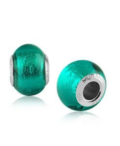 Turquoise Murano Bracelet Charm
