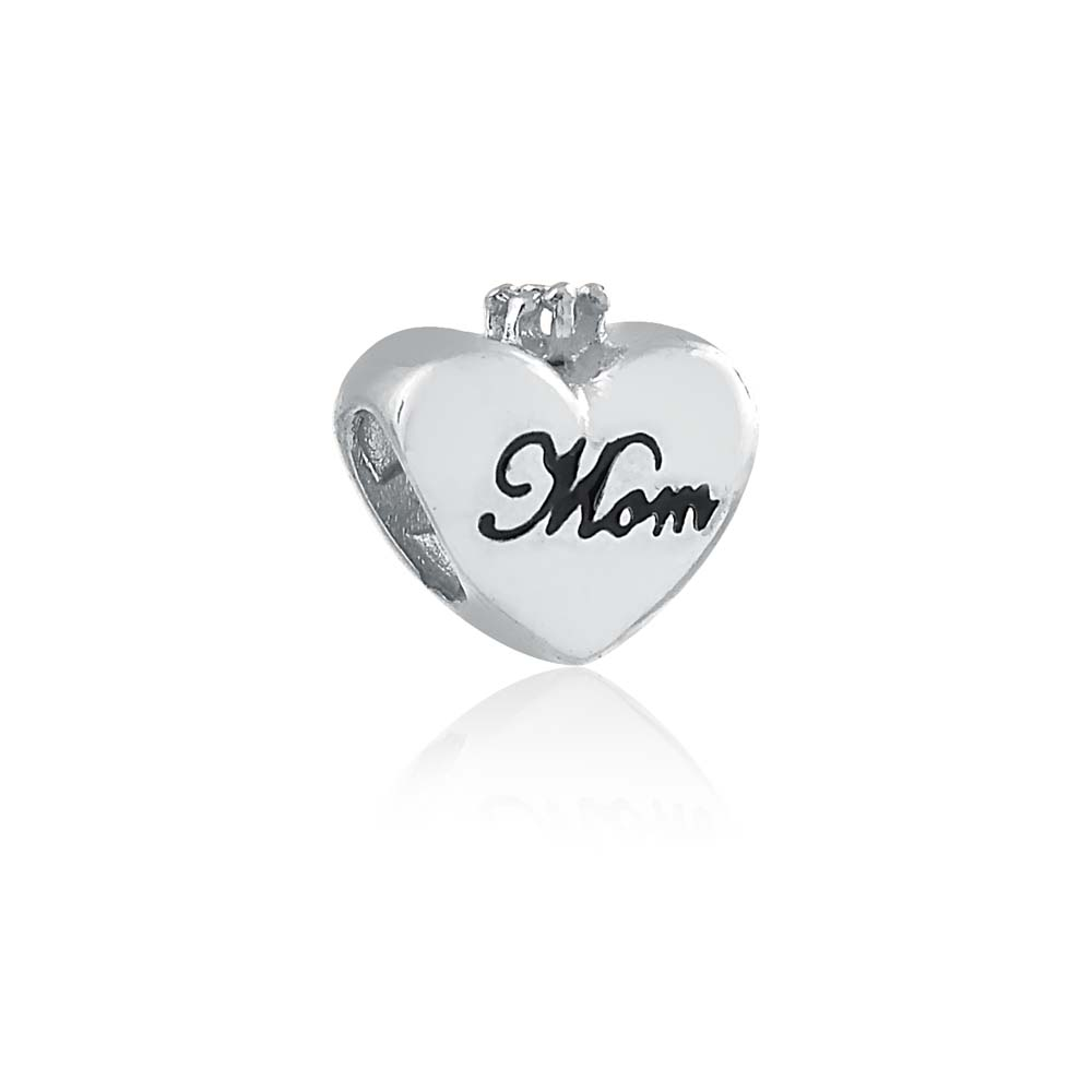 Heart in Hands Charm Bead European 925 Sterling Silver mum Mothers day